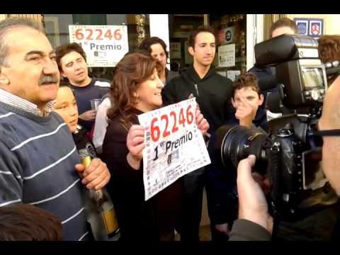 Primer premio de la lotería de navidad 2013 en Huelma